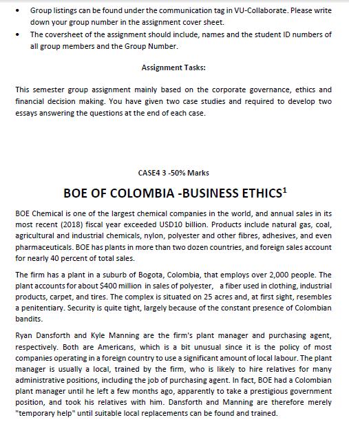 corporate coursework assessment sample 2