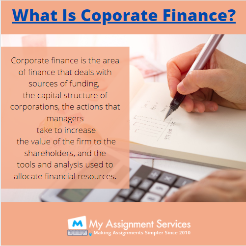 corporate finance coursework Help by Experts