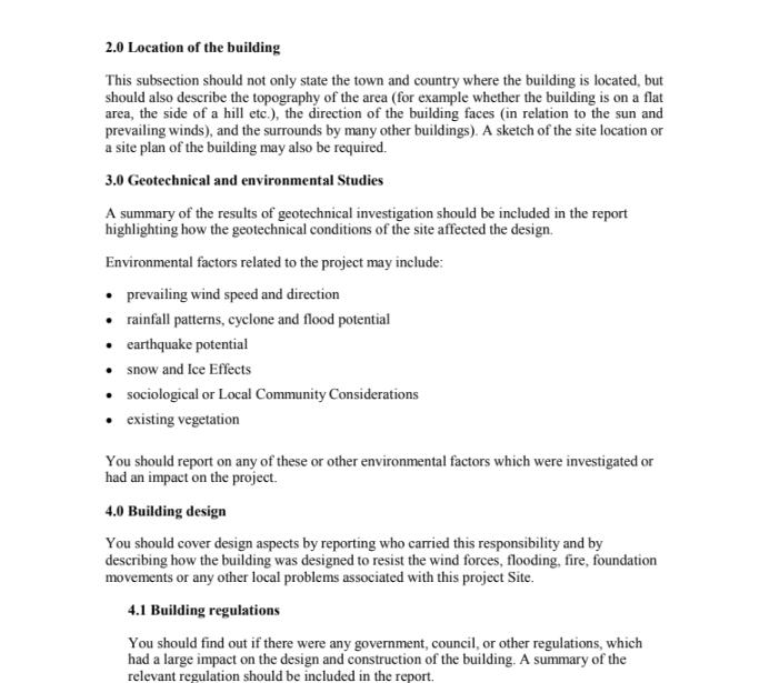 Civil Engineering Coursework Example