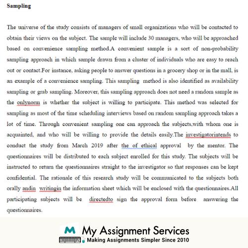Business Management Dissertation Sample