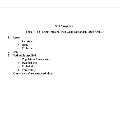 Statistics Thesis Assignment Sample 2