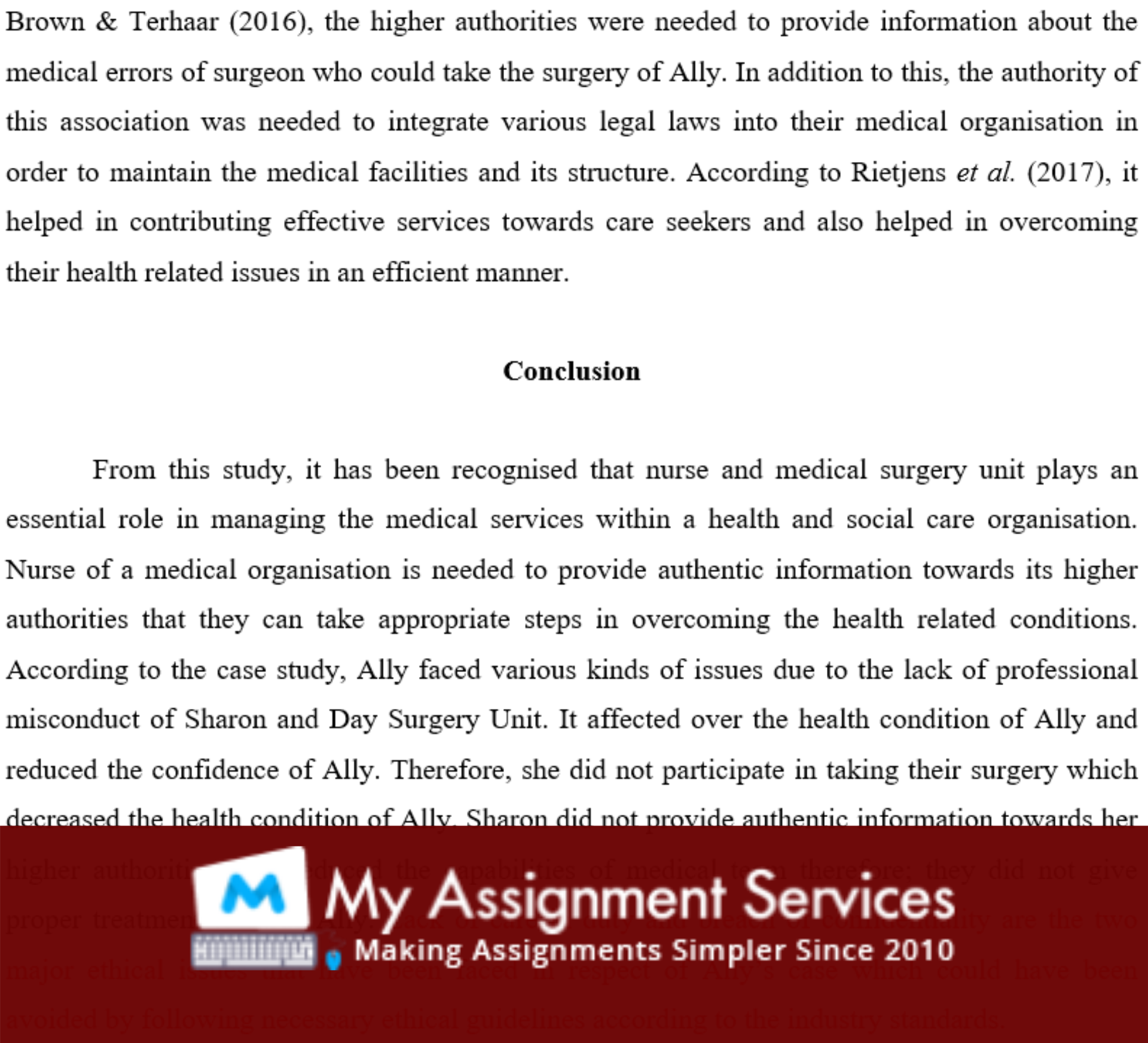 science essay assessment sample 6
