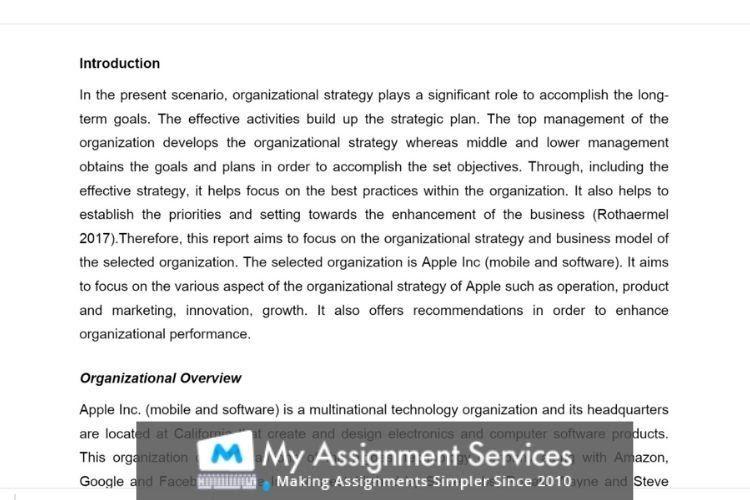 MBA thesis writing sample 2