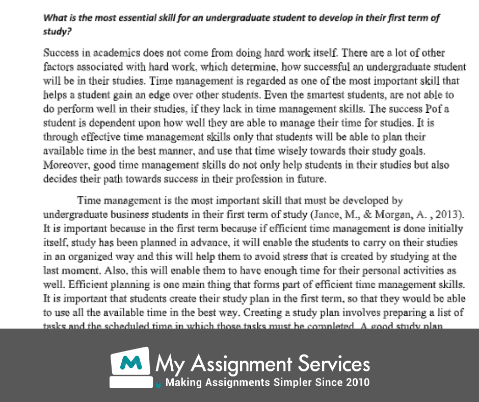 business thesis assessment solution sample