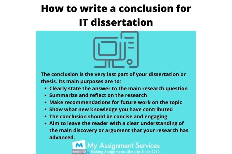 how to write a conclusion for IT dissertation