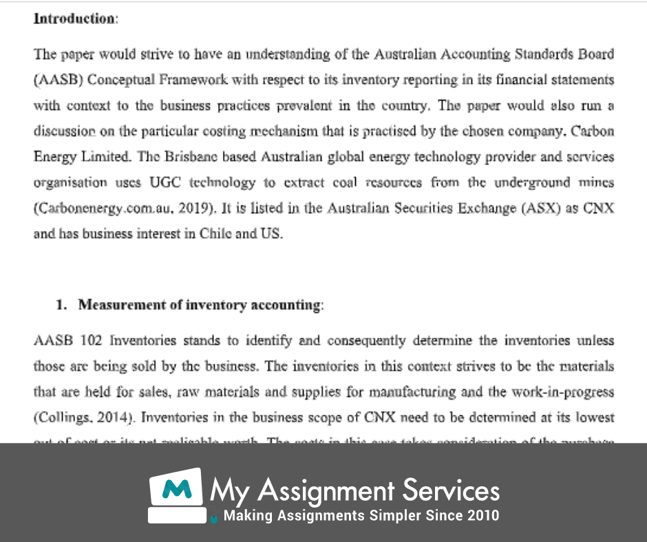 accounting thesis assessment solution sample