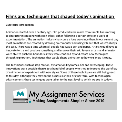 animation essay writing help in the UK
