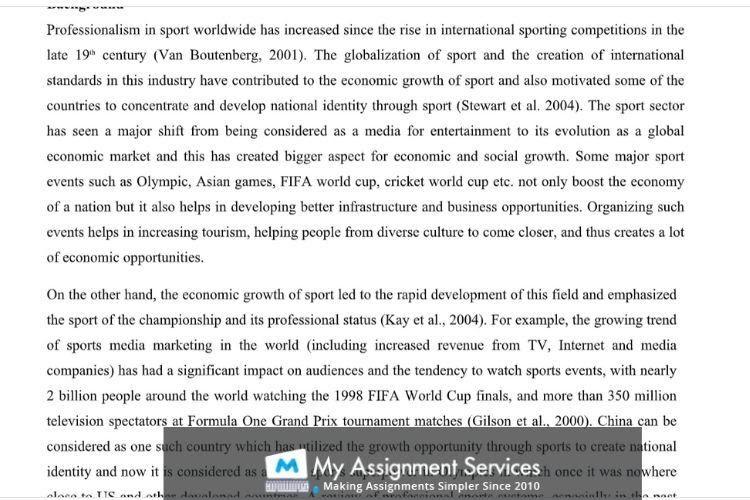 Sports essay help UK