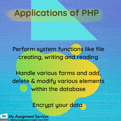 PHP coursework writing service