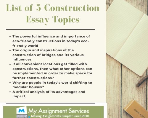 Construction Essay Writing Service