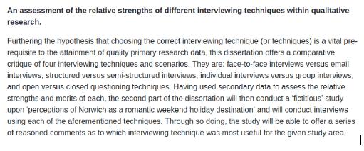 Dissertation Methodology Example