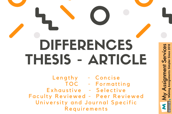 Difference between Thesis and Article