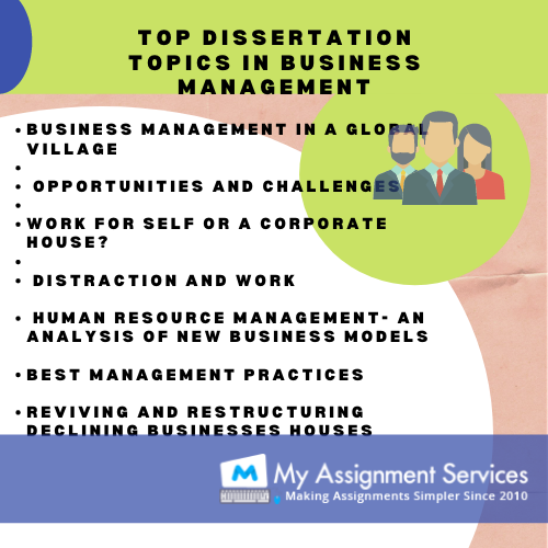 top topics for business management dissertation