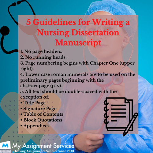 Guideline for nursing dissertation writing