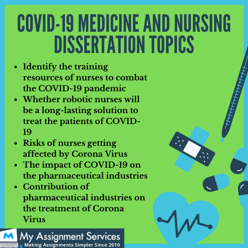 covid 19 medicine and nursing dissertation topics