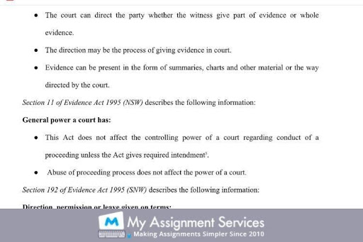 70109 Evidence Law Essay Writting