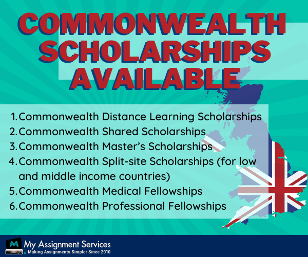 commonwealth scholarships available