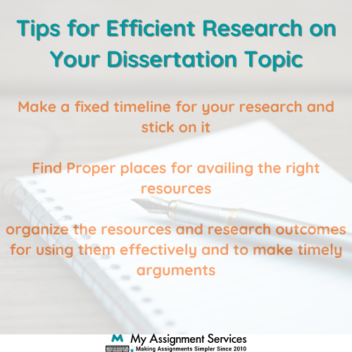 tips for dissertation research