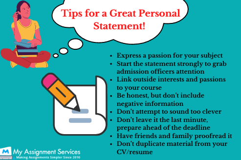 personal statement writing tips
