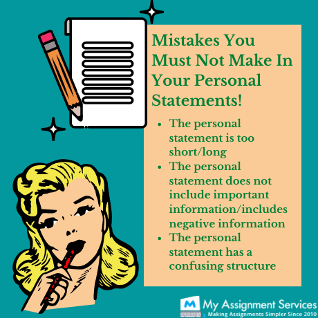 don'ts of a personal statement