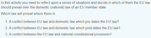 EU law assignment sample