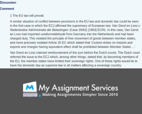 EU law assignment help