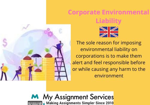 Corporate environmental liability thesis help