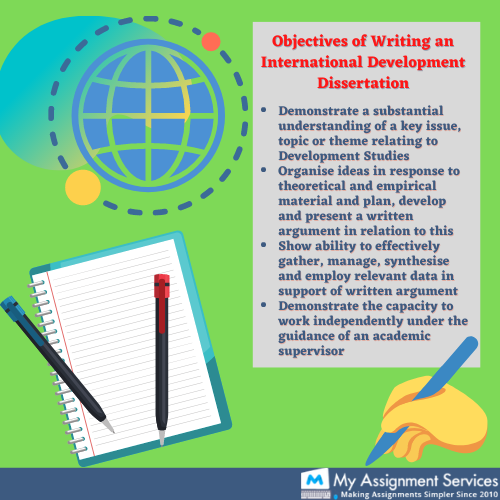 Objectives of writing a development dissertation