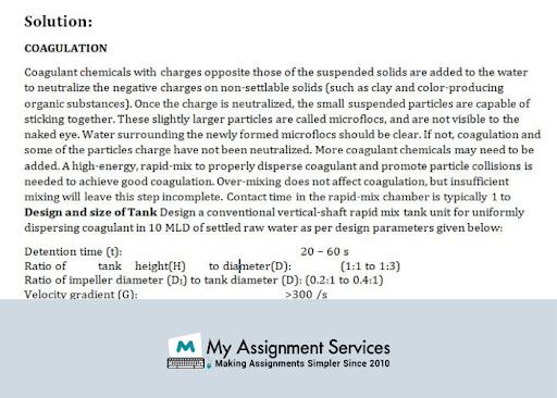 Water pollution  chemistry  dissertation help Sample