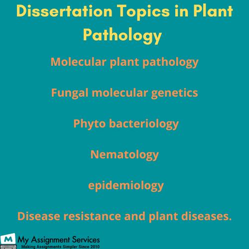 plant pathology dissertation experts