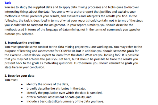Reliable Data Mining assignment help