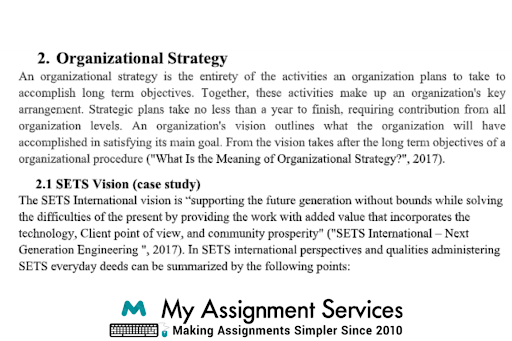 Perspectives of Organization homework experts