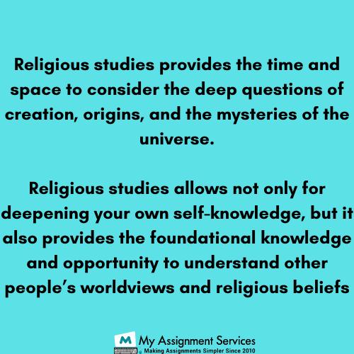 Religious Studies Dissertation Help