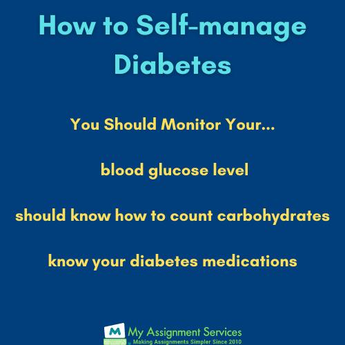 self manage diabetes
