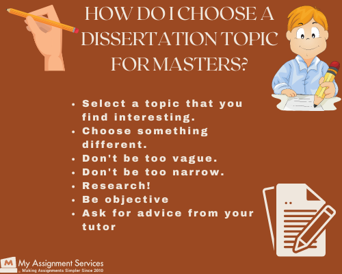 how to choose a dissertation topic
