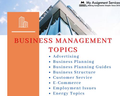 business management topics