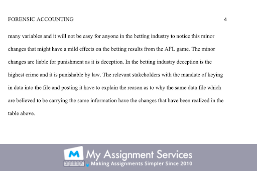 Forensic Accounting Dissertation Help service