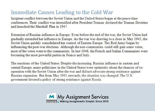 Cold War Dissertation Help