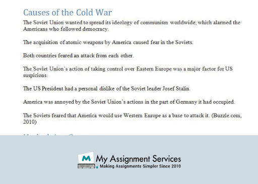 Cold War Dissertation experts