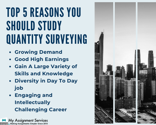 Reasons to study quantity surveying