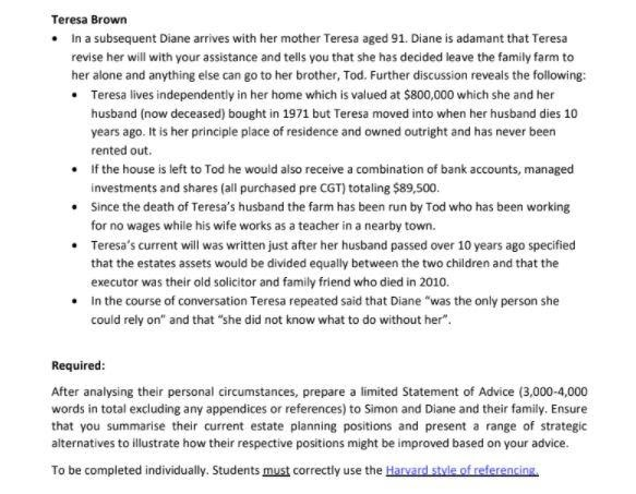 succession and trust assignment samples 5
