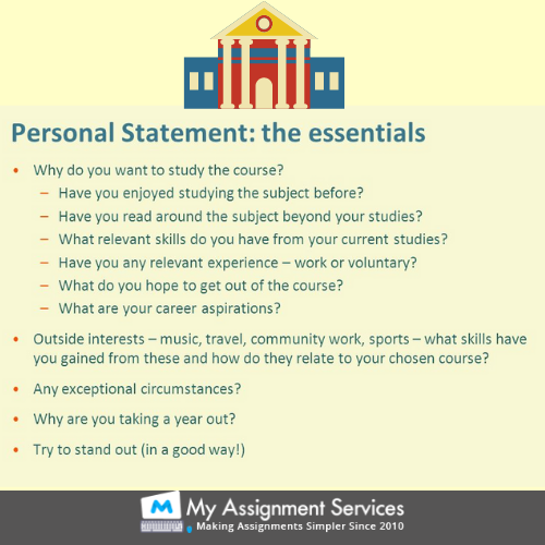 personal statement essentials
