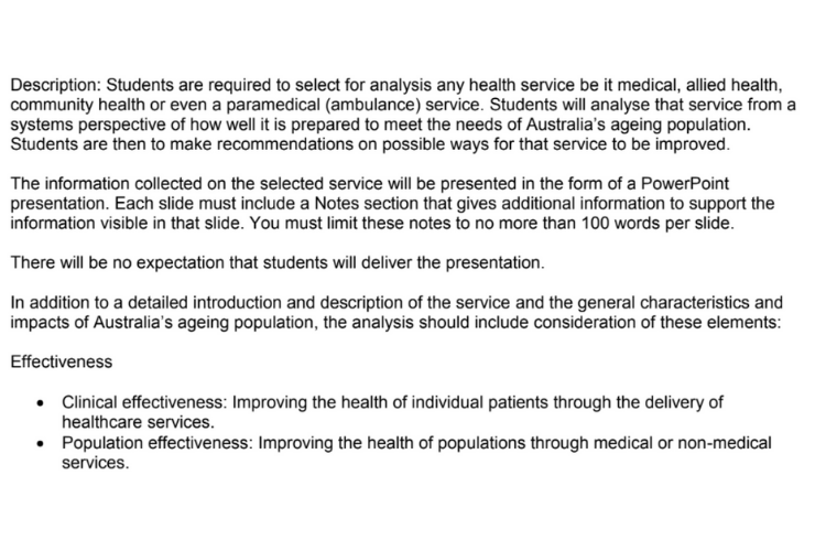 Healthcare Information System Assignment Sample