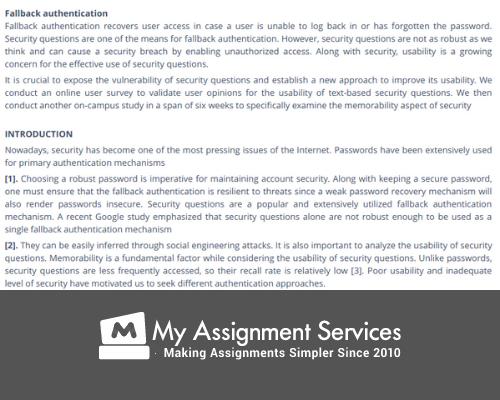 fallback mechanisms assignment help