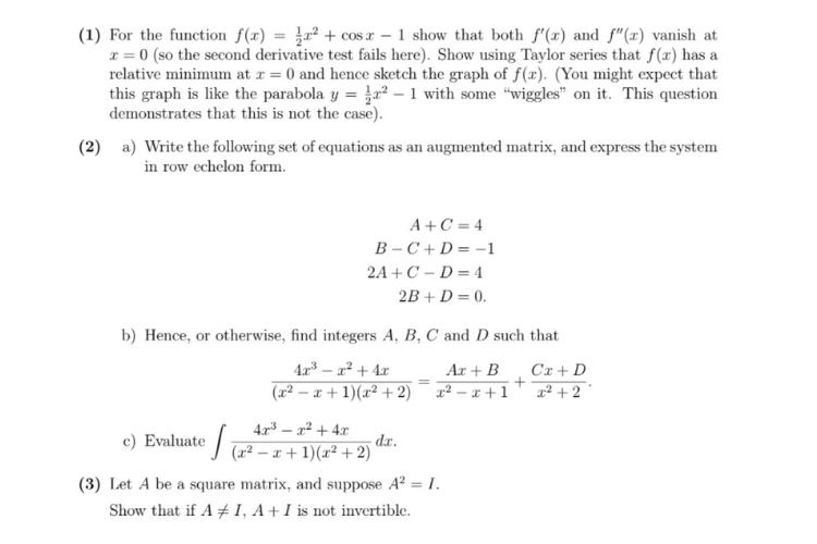 Calculus Assignment Sample