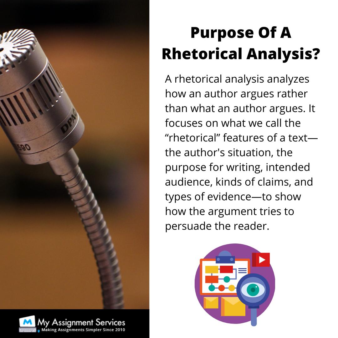 Rhetorical Analysis Assignment Help