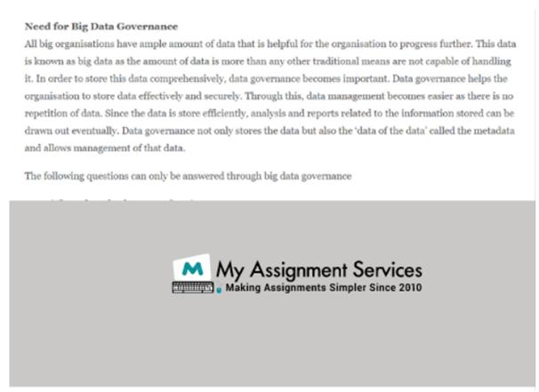 need for big data governance