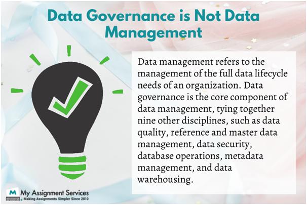 data governance and data management