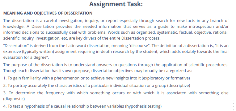 Dissertation Aims And Objective Examples