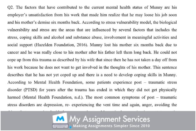 Mental Illness Sample